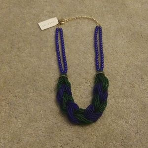 Talbots blue + green beaded necklace